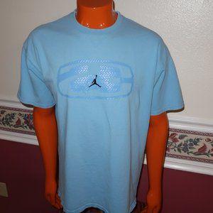VINTAGE NIKE AIR JORDAN CAROLINA BLUE T-SHIRT XL